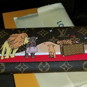 New Louis Vuitton Monogram Felines Wallet